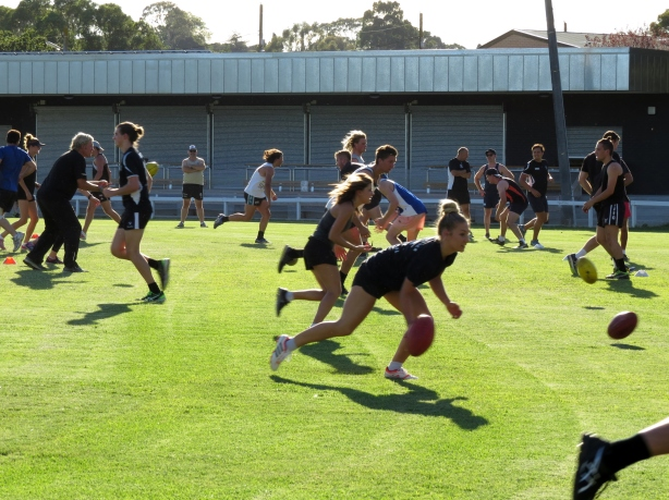 The IAFC Mens and Womens Teams train together for the first time. Pic: Phil Skeggs