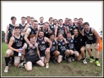 The Ivanhoe Reserves celebrate the records! Pic: Phil Skeggs