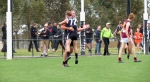 Nick Godfrey and Ryan Smythe celebrate a goal during the final quarter of the Reserves GF. Pic: Phil Skeggs