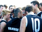 Senior coach Paul Harris at 3/4 time in the GF. Pic: Phil Skeggs